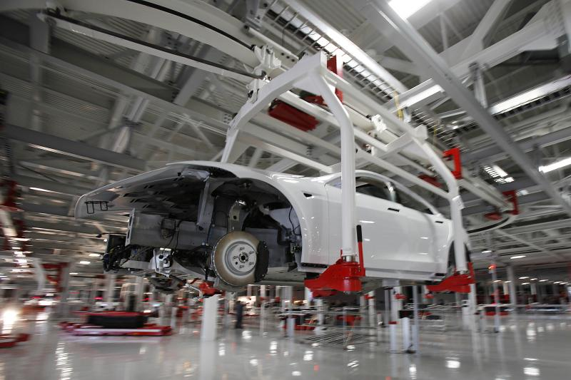 In a Tesla factory in Fremont, California October 2011.