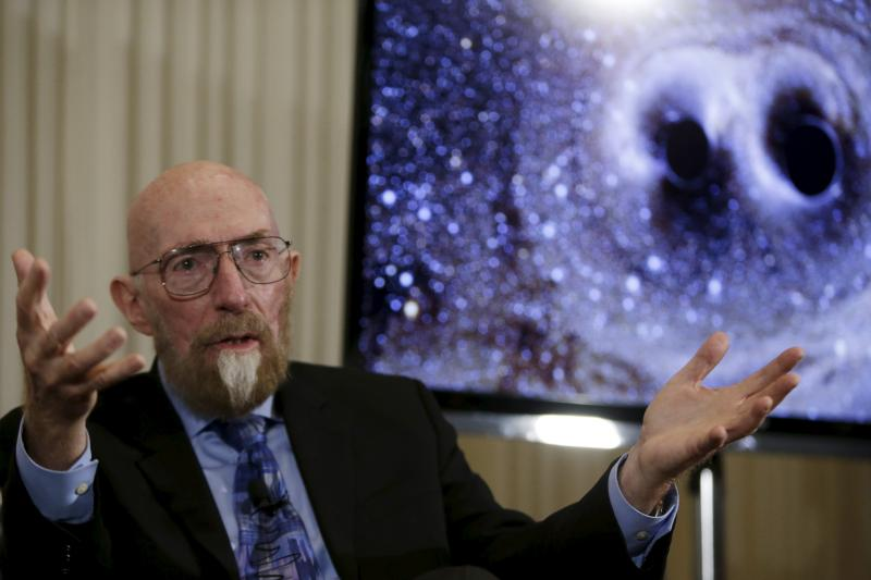 Dr. Kip Thorne of Caltech discusses the detection of gravitational waves in Washington, February 2016.