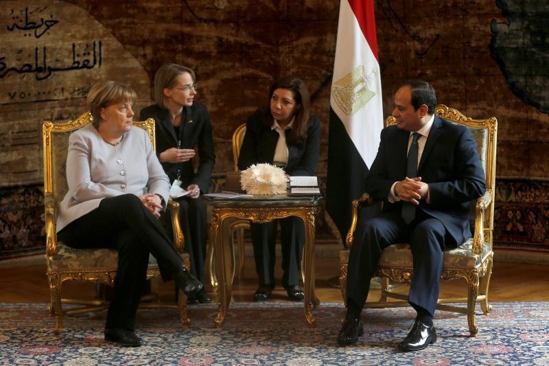 German Chancellor Angela Merkel and Egyptian President Abdel Fattah al-Sisi in Cairo, March 2017.