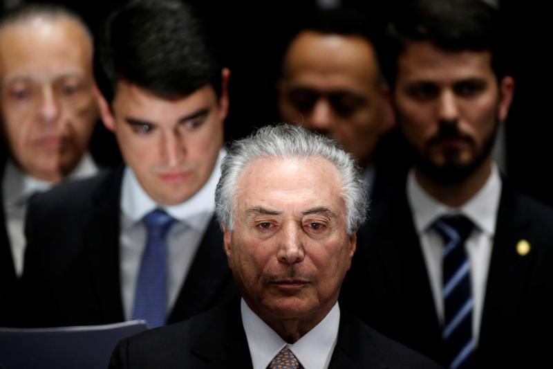 Brazilian President Michel Temer at his inauguration ceremony in Brasilia, Brazil, August 2016.