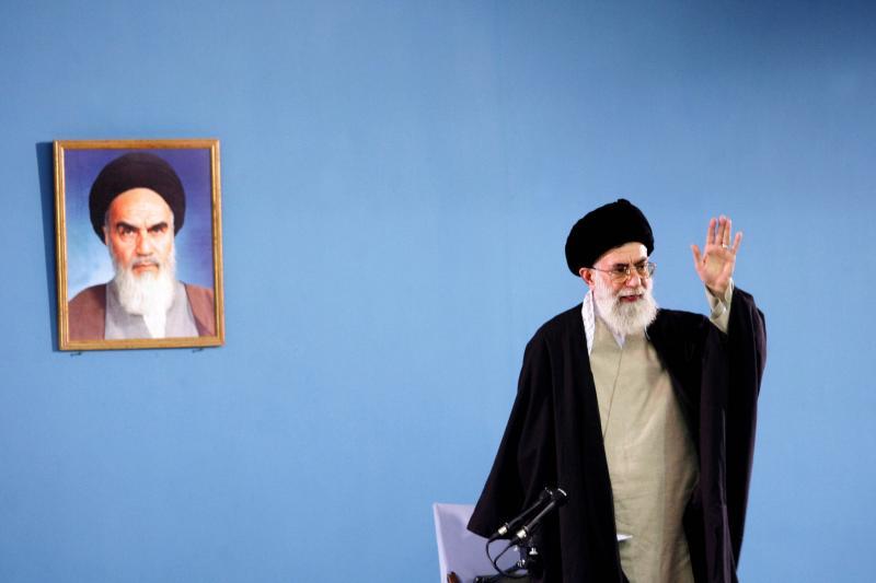 Iranian Supreme Leader Ayatollah Ali Khamenei in Tehran, Iran, April 2006.