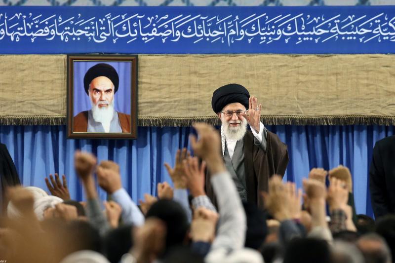 Iranian Supreme Leader Ali Khamenei in Tehran, April 2017.