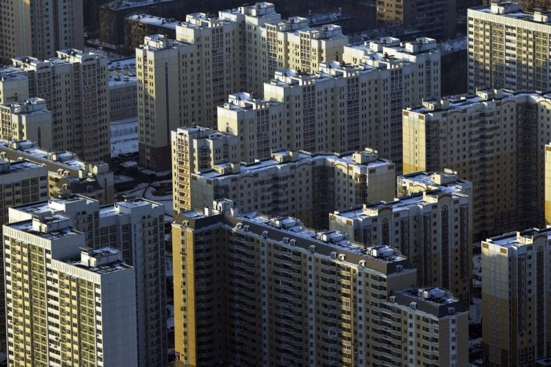 Apartment blocks in Moscow, February 2012.