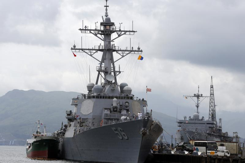 The USS John S. McCain at the start of a U.S.-Philippine military exercise in Subic Bay, Philippines, June 2014.