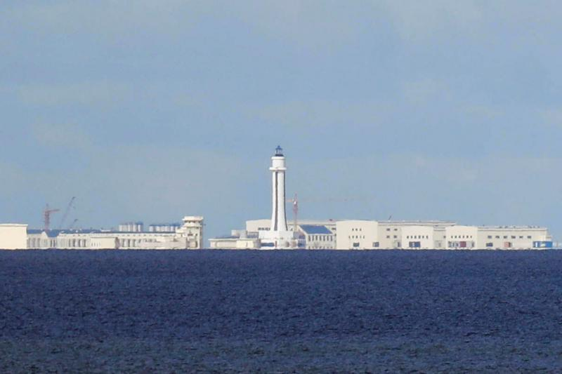 Chinese structures in the Spratly Islands, April 2017.