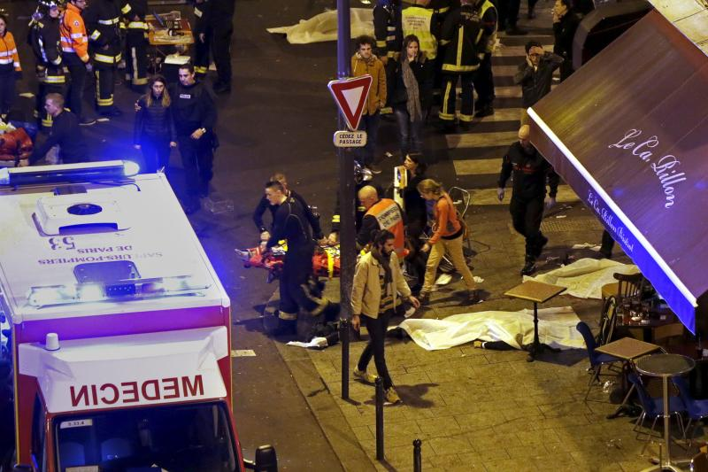 The aftermath of the Bataclan attack, Paris, France, November 2015.