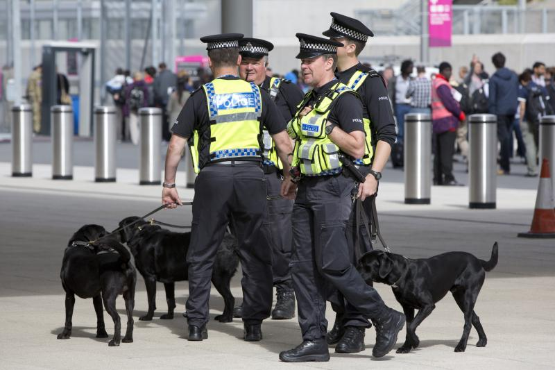 Police officers in London, July 2012.