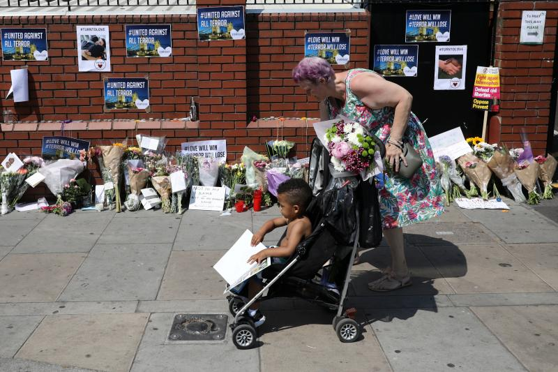 At the scene of an attack near Finsbury Park Mosque, London, June 2017.