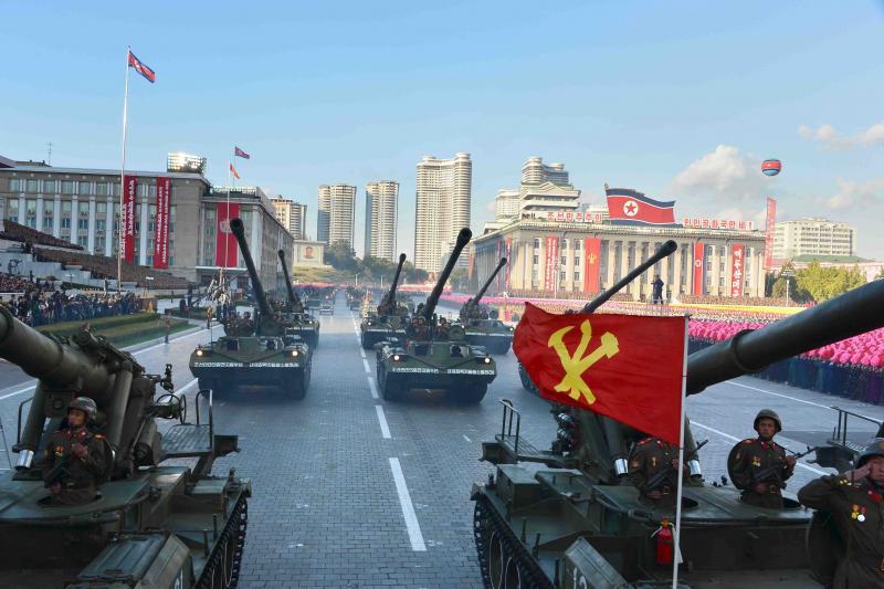 A military parade in Pyongyang, October 2015.
