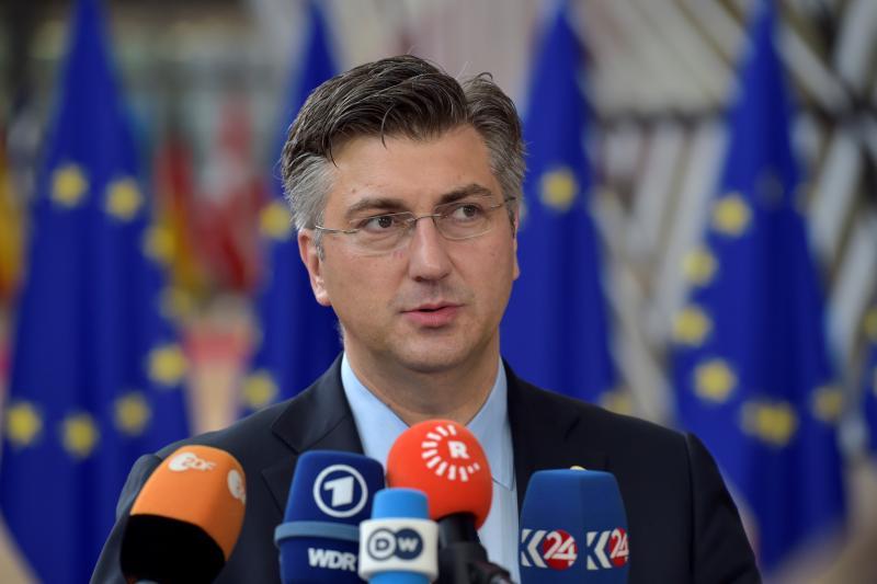 Croatian PM Andrej Plenkovic at an EU summit in Brussels, June 2017.