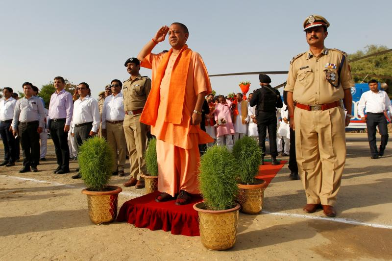 Yogi Adityanath, chief minister of Uttar Pradesh, in Allahabad, India, June 2017.