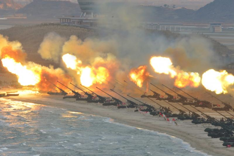 A military drill in North Korea, March 2016.