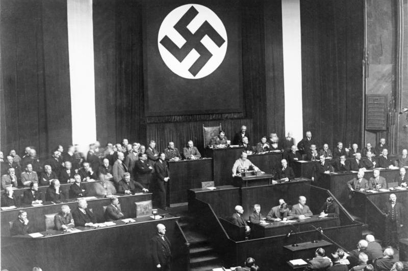 Hitler addresses the Reichstag, Berlin, March 1933