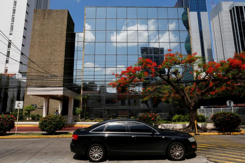 Outside the offices of Mossack Fonseca, Panama City, May 2016.