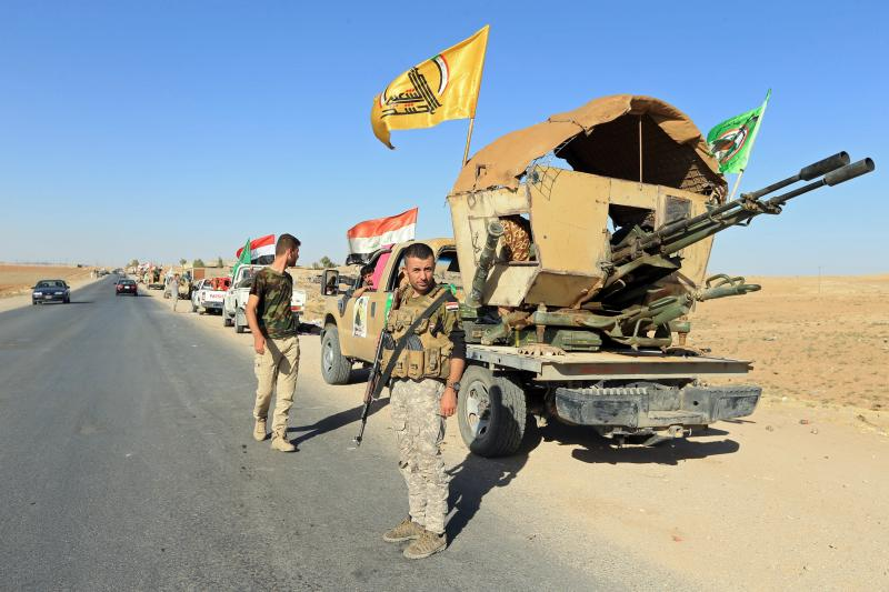 Shiite Popular Mobilization Forces in Zumar, Iraq, October 2017.