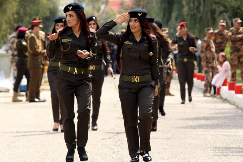 Female peshmerga in Zakho, Iraqi Kurdistan, March 2016.