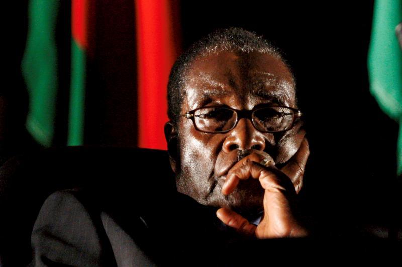 Robert Mugabe during an SADC summit meeting in Johannesburg, August 2008.
