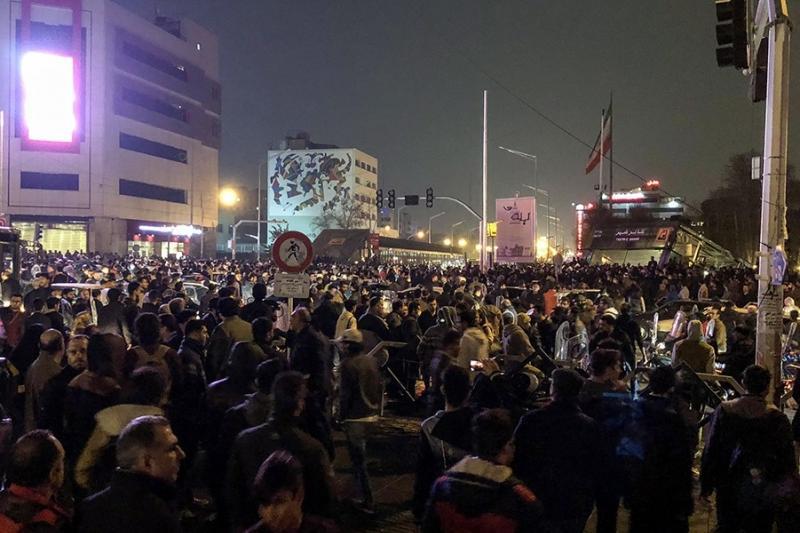 Protests in Tehran, December 2017.