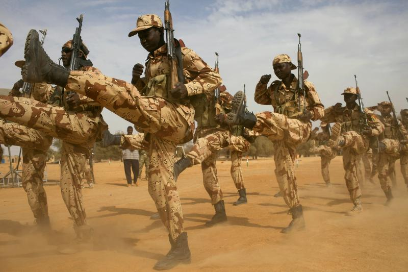 Chadian soldiers during a U.S.-led training mission, March 2014