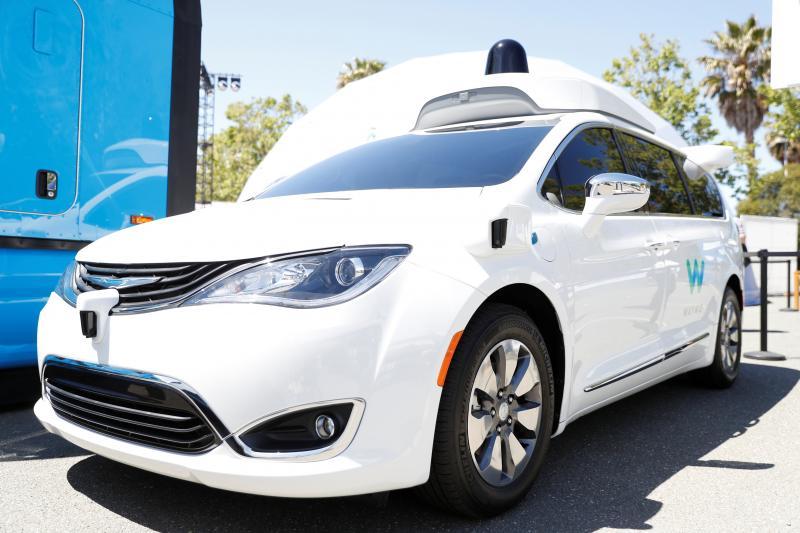 A Waymo self-driving car in Mountain View, California, May 2018.
