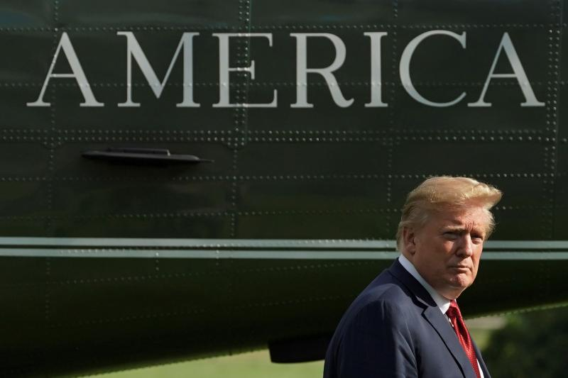 U.S. President Donald Trump on the South Lawn of the White House in Washington, June 2018.
