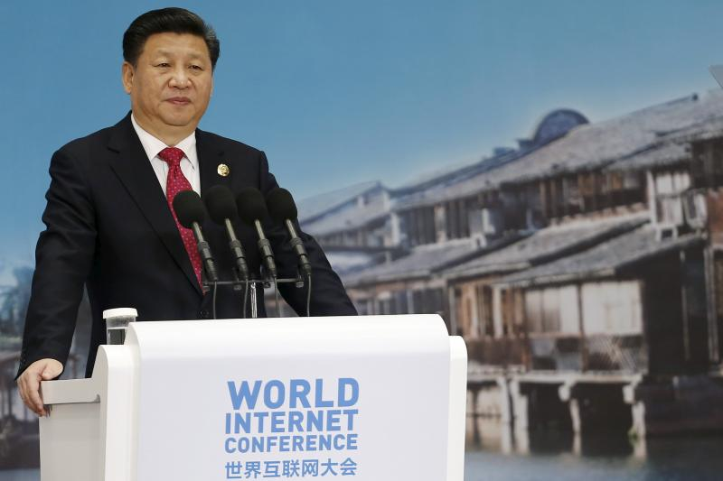 Xi at the World Internet Conference, Wuzhen, December 2015.