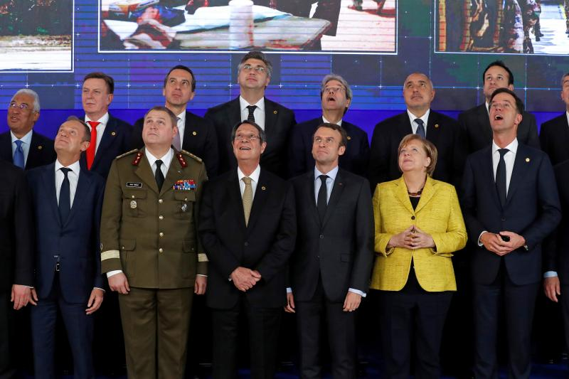 EU leaders on the launching of the Permanent Structured Cooperation (PESCO) in Brussels, Belgium, December 2017
