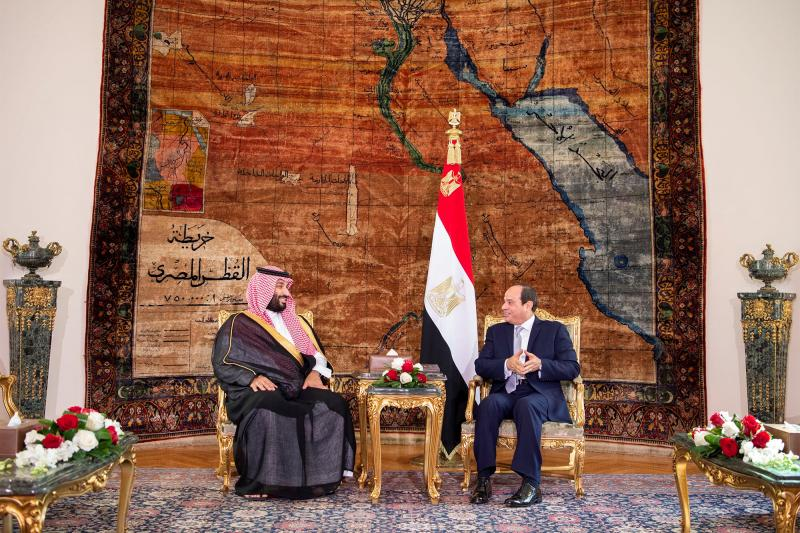MbS and Sisi in Cairo, November 2018.