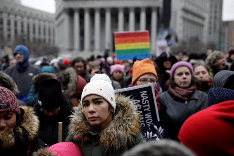 At the Women's March in Foley Square, New York City, January 19, 2019