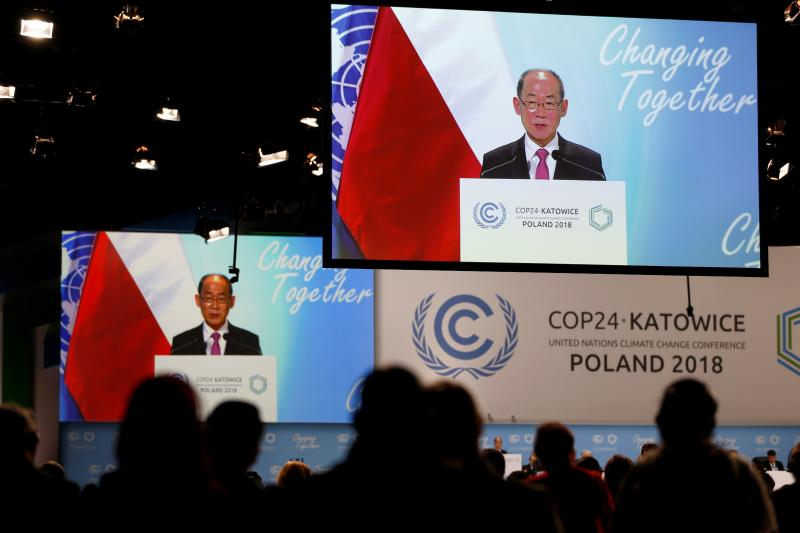 Hoesung Lee, chairman of the Intergovernmental Panel on Climate Change (IPCC) at the COP24 UN Climate Change Conference in Katowice, Poland, December 2018