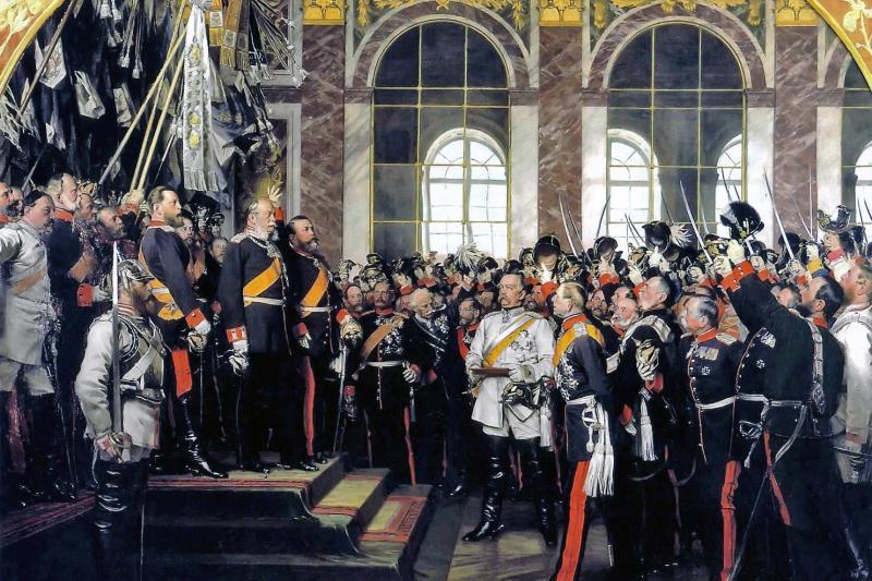The Proclamation of the German Empire, Anton von Werner, 1882