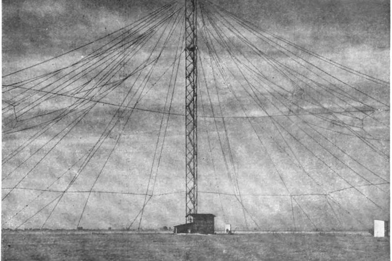A large antenna for wireless telegraphy in Nauen, Germany, 1907