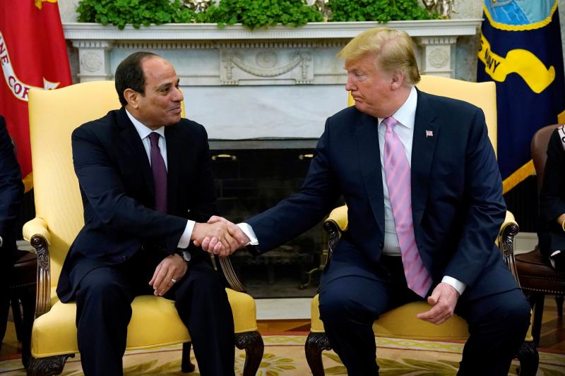 Trump and Sisi at the White House on April 9, 2019
