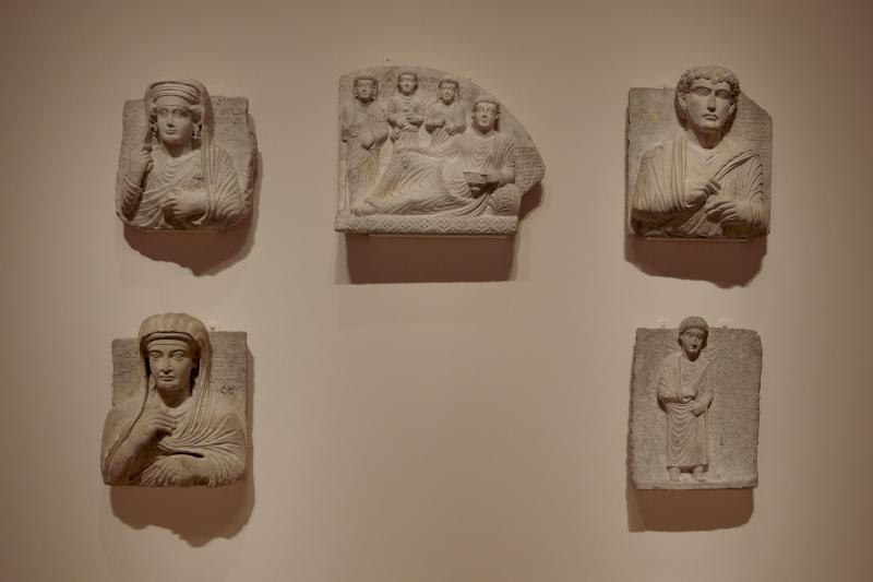 Ancient reliefs from the Middle East on display at the Metropolitan Museum of Art in New York City, March 2019