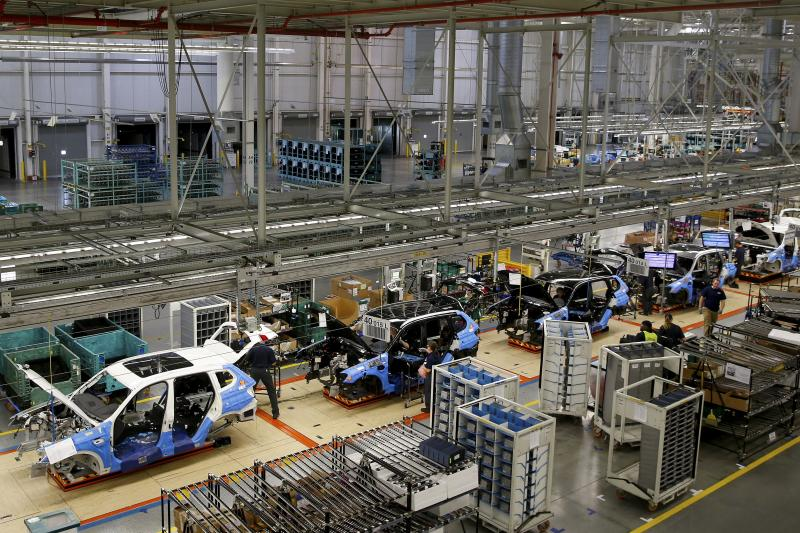 An assembly line at a BMW manufacturing plant in Spartanburg, South Carolina March 2014