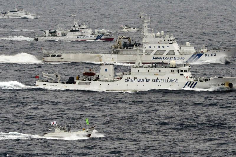 Chinese and Japanese ships near the Diaoyu/Senkaku Islands, April 2013