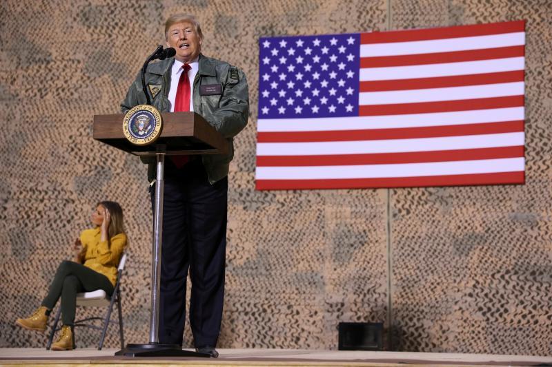 President Trump at Al Asad Airbase in Iraq, December 2018