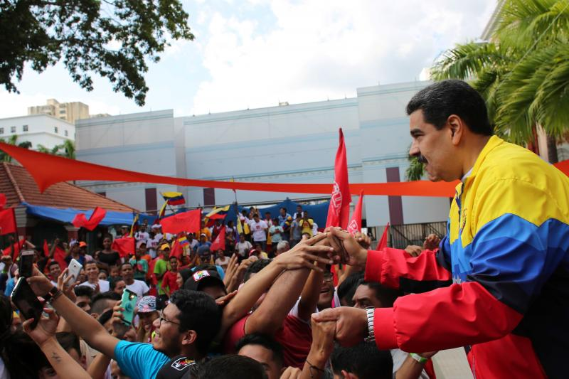 Venezuela's President Nicolas Maduro attends a rally against U.S. President Donald Trump in Caracas, Venezuela September 12, 2019.