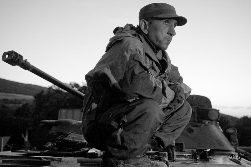A Russian soldier in Georgia in 2008
