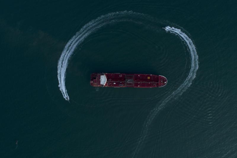 The Islamic Revolutionary Guard Corps surrounda British oil tanker in the Strait of Hormuz inJuly 2019