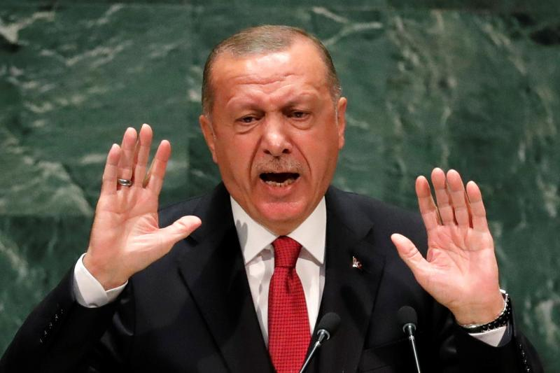 Erdogan at the United Nations General Assembly in New York City, September 2019