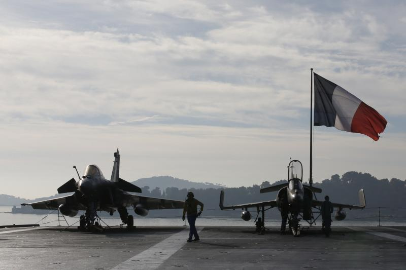 Aboard the French aircraft carrier Charles de Gaulle, Toulon, France, November 2015.