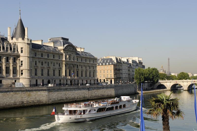 The Palais de Justice, or Courts, in Paris