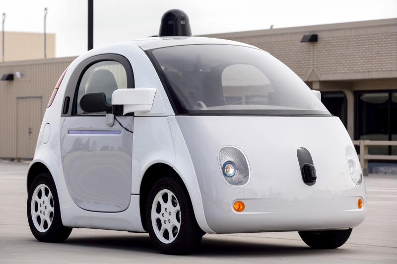 Google's self-driving vehicle on display in Mountain View, California, 2015