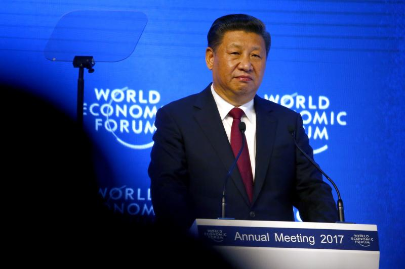 Chinese President Xi Jinping attends the World Economic Forum annual meeting in Davos, Switzerland, January 2017.