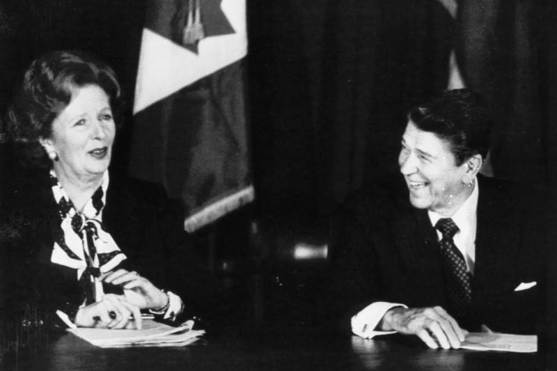 Thatcher and Reagan in New York, October 1985