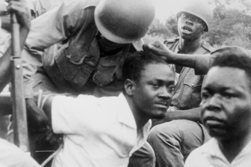 Hands tied: Lumumba's capture in Léopoldville, December 1960.