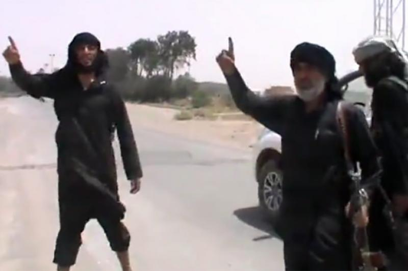 ISIS fighters in Syria, July 2014.