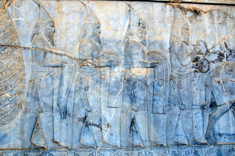 Saka Tigraxauda Delegation on a frieze from Persepolis.