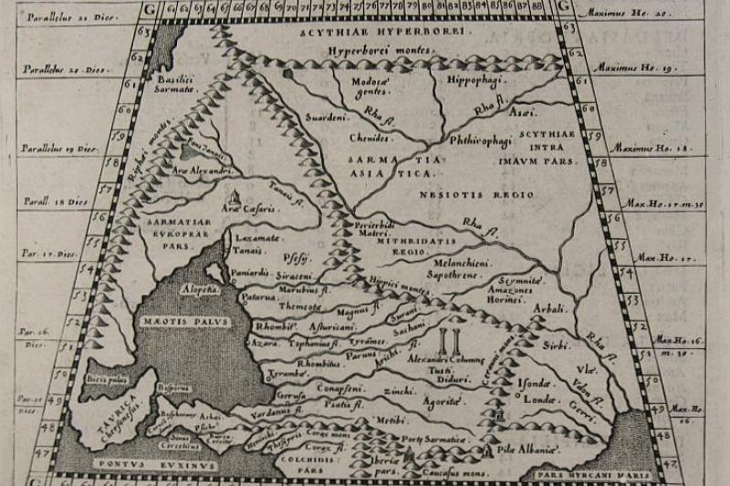 Ptolemaic map of Scythia by Girolamo Porro, 1598.